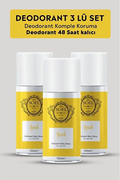 Kadın Deodorant Sprey 3 Adet Afrodizyak Içerikli Ipek 150 Ml