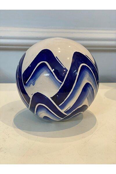Bleu Blanc Dekoratif Obje - Top