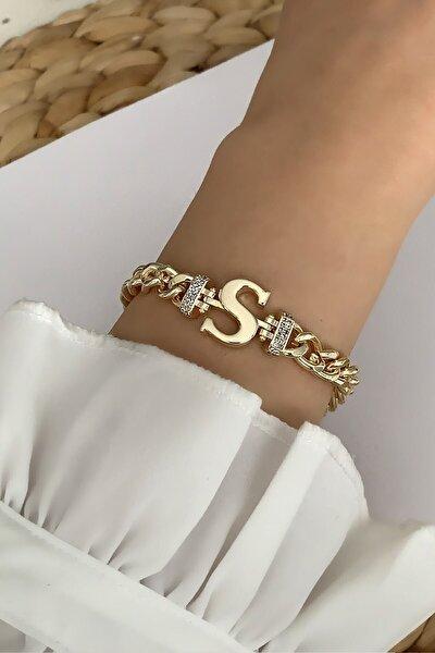 Gold S Harf Bileklik Trbilek7544 B34003
