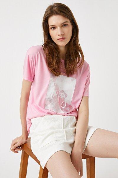 Kadın Pembe T-Shirt 1YAK13111EK