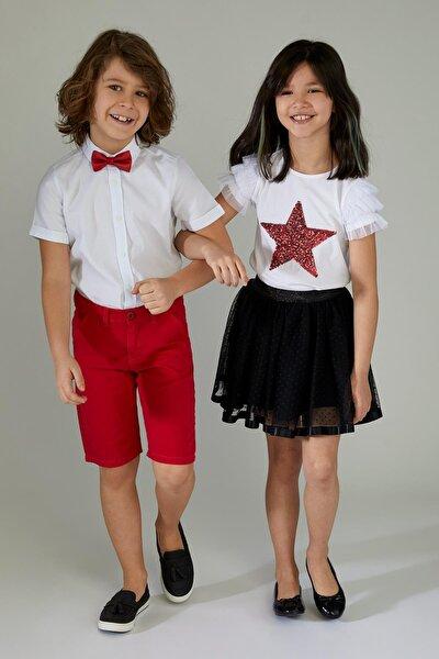 Erkek Çocuk Kısa Kol Papyonlu Gömlek T3760A621SP