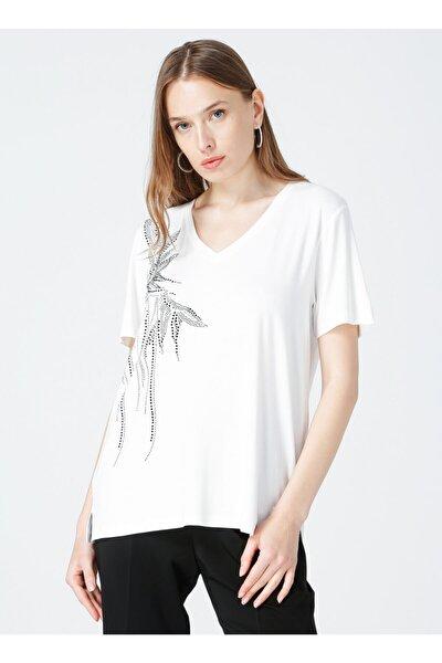 Kadın Beyaz Comfort T-shirt