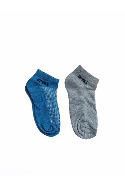 Spor Çocuk Çorap - 2´lü (mavi -açık Gri) Mcc-ç-g-0020