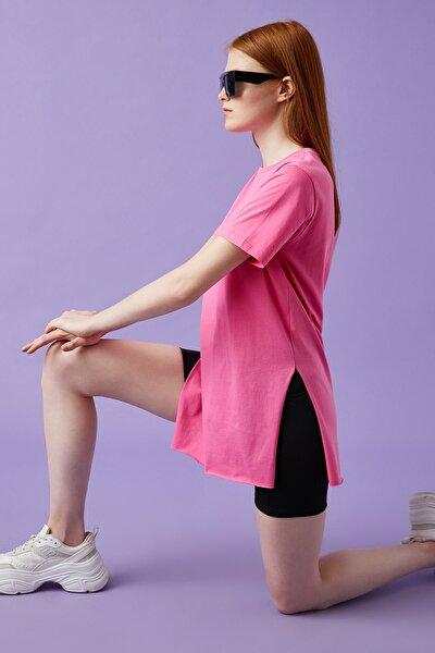 Kadın Pembe T-Shirt 1YAL18655OK