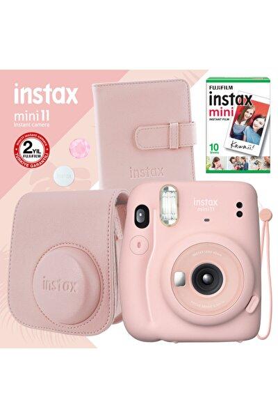 Instax Mini 11 Pembe Fotoğraf Makinesi Ve Kare Albümlü Hediye Seti 22