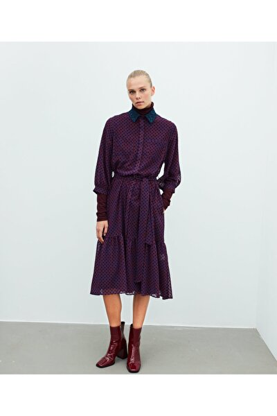 Puantiye Desen Tül Elbise