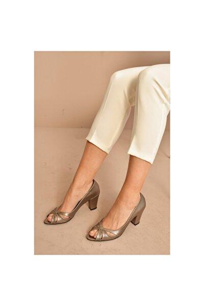 Kadın Topuklu Önü Açık Ayakkabı 387023