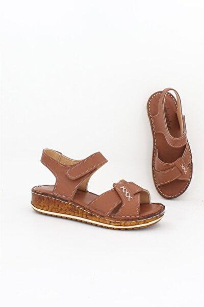 Hakiki Deri Taba Kadın Deri Sandalet Dp62-0012