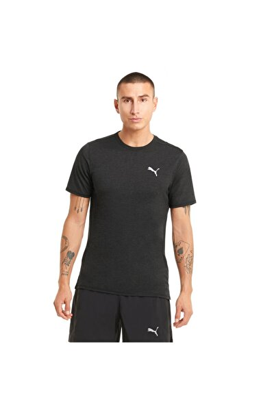 RUN FAVORITE HEATHER SS T Siyah Erkek T-Shirt 101085380