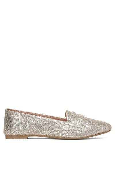 Hannına 1fx Altın Kadın Loafer Ayakkabı