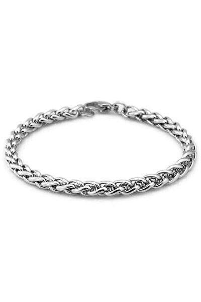 Erkek Gümüş Çelik Bileklik