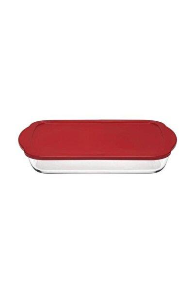 Borcam Kırmızı Kapaklı Dikdörtgen Saklama Kabı