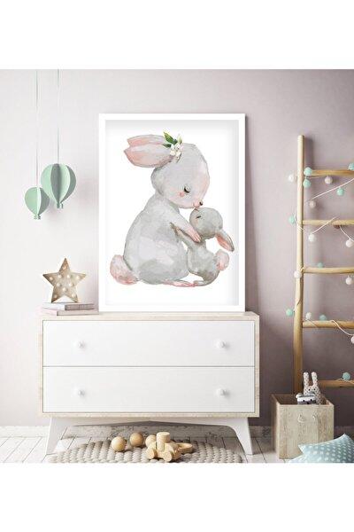 1 Adet 33 X 44cm Büyük Boy Çerçeveli Bebek, Çocuk Odası Tablo