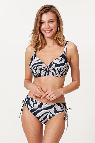 Kaplı Balenli Bikini Takım 217390 Zebra