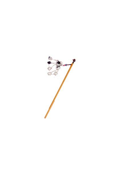 Tahta Saplı Kedi Oltası 90cm Turuncu