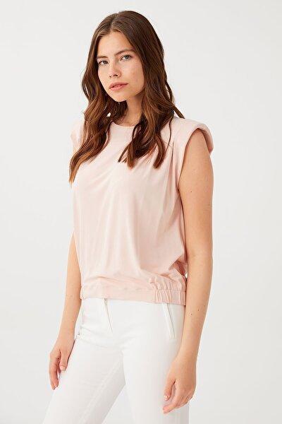 Kadın Vatkalı Basic Bluz
