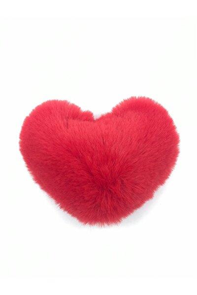 Kırmızı Kalp Ponpon Anahtarlık A0035