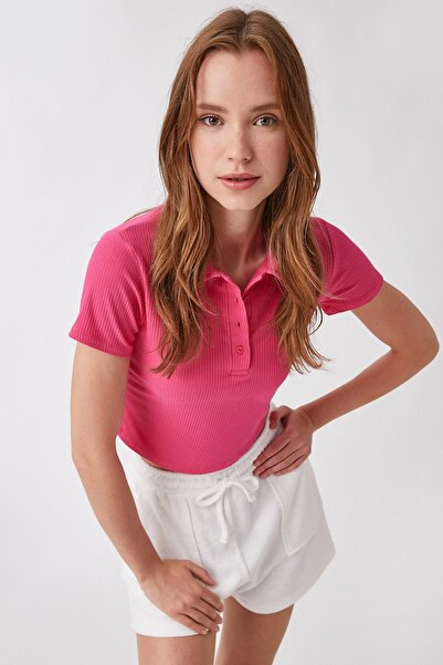Kadın Fuşya T-Shirt 1YAK13794EK
