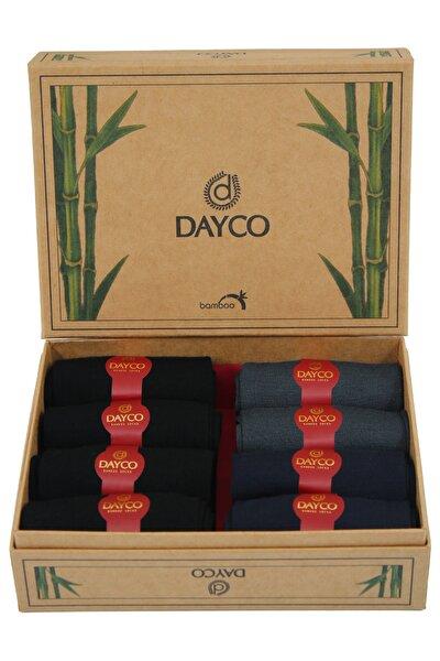 Premium Bambu Yazlık Çorap 8'li Set Kraft Kutulu 4 Siyah 2 Lacivert 2 Füme