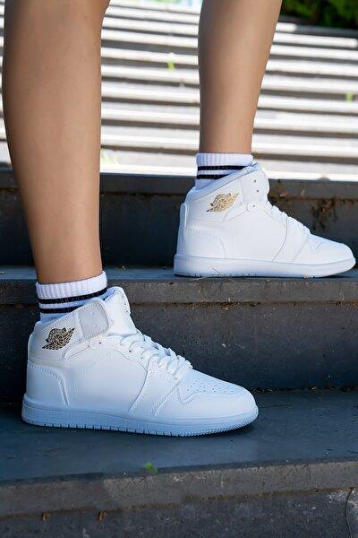 Unisex Bilekli Spor Ayakkabı Beyaz