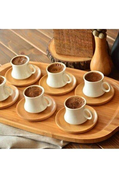 Largi 6 Kişilik Kahve Takımı Bambu