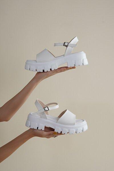 Kadın Yüksek Taban Bilekten Bağlama Sandalet