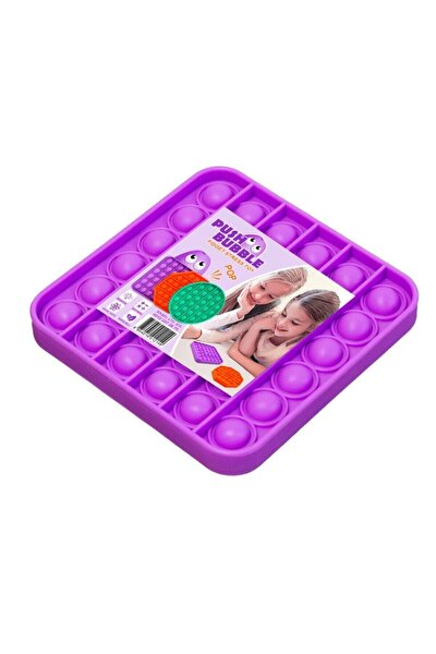 Push Bubble Fidget Özel Pop Duyusal Oyuncak Zihinsel Stres ( Mor Renk, Kare)