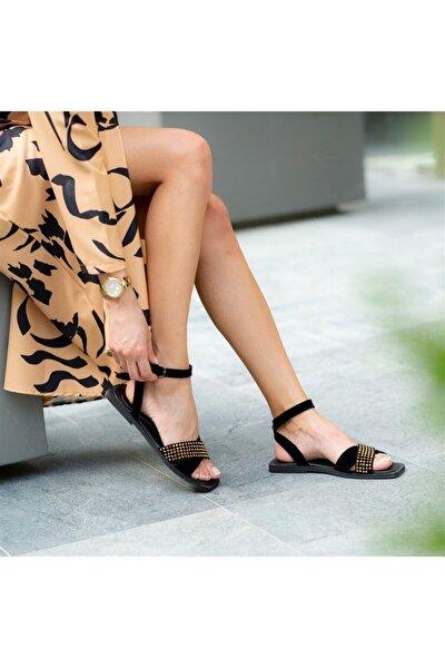S10 Altın Kadın Sandalet