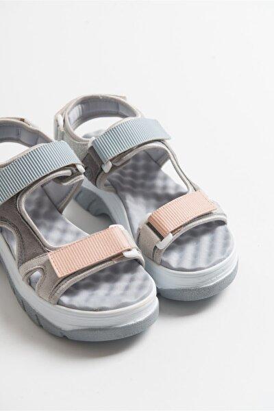 Kadın Buz Mavisi Bantlı Sandalet