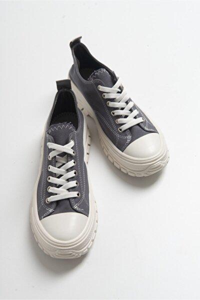Kadın Füme Bağcıklı Sneaker