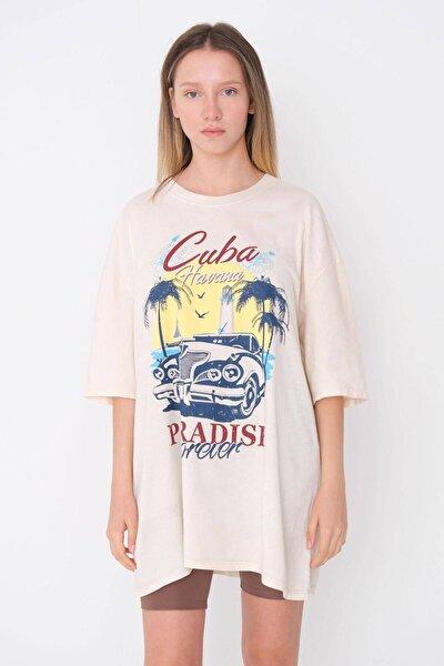 Baskılı T-shirt P9637 - G12