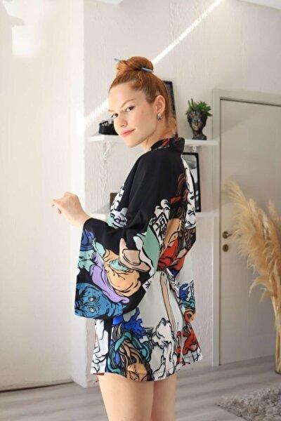 Siyah Yakuza Kimono