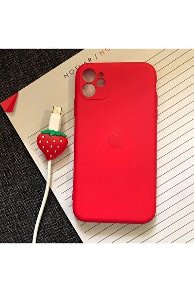 Iphone 11 Kamera Korumalı Model, Logolu Lansman Kılıf Ve Kablo Koruyucu