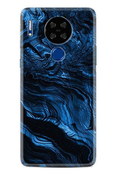 P13 Blue Max Lite Kılıf Desenli Silikon Kılıf Blue Marble 1379