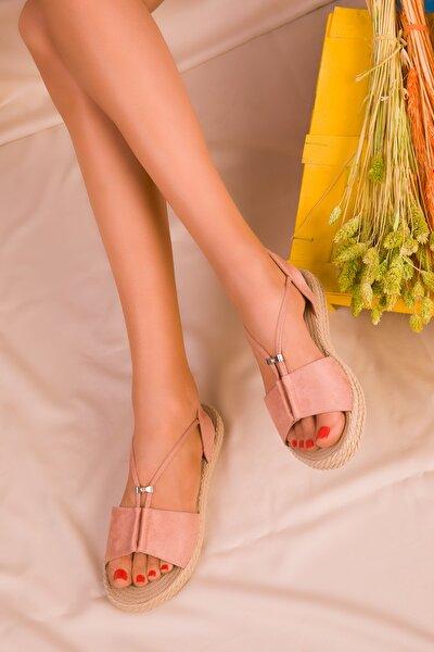 Pudra Süet Kadın Sandalet 14661