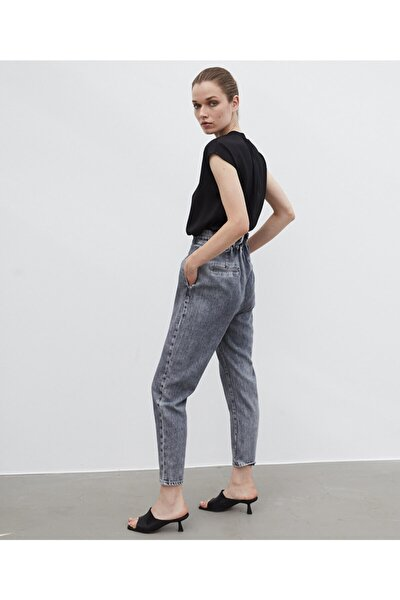 Yüksek Bel Jean Pantolon