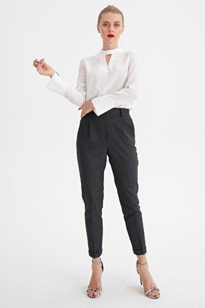 Çizgili Lastikli Pantolon