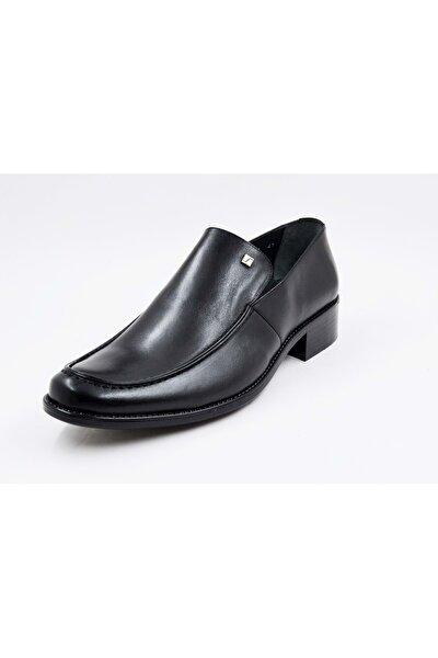 4052 Erkek Siiyah Deri Klasik Ayakkabı - - 4052 - Siyah - 41
