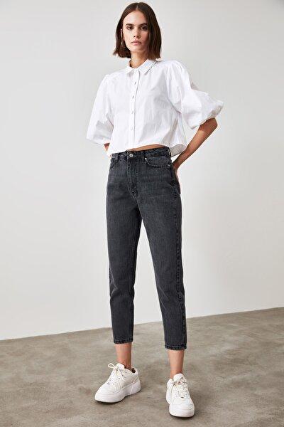 Antrasit Yüksek Bel Mom Jeans TWOAW21JE0432