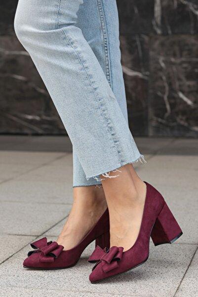 Bordo Kadın Topuklu Ayakkabı 002057WR