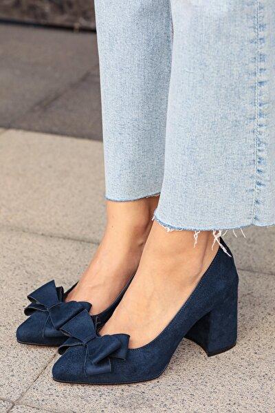 Lacivert Kadın Topuklu Ayakkabı 002057DB