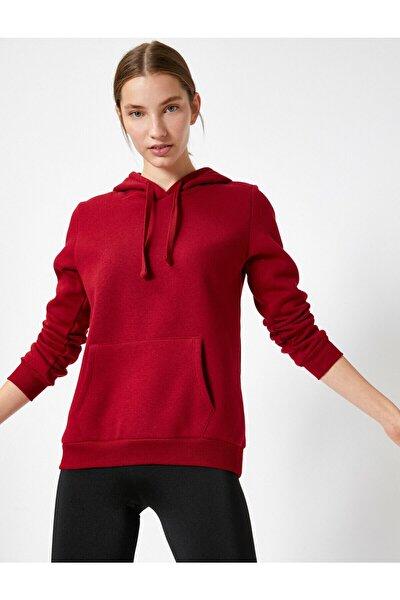 Kadın Bordo Sweatshirt 504849005