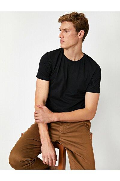 Erkek Siyah T-Shirt 1KAM12136LK