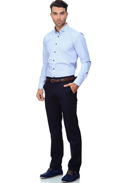 Erkek Clean Khaki Standard Slim Stretch Pantolon 28862-0001