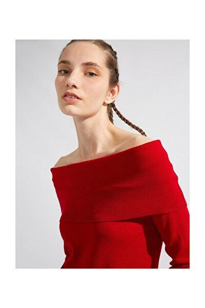 Kadın Kırmızı Kazak 1KAL98719OT
