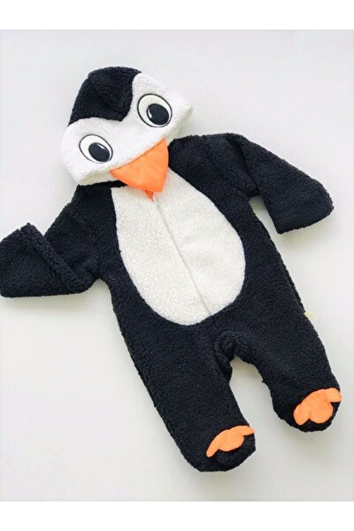Unisex Bebek Siyah  Sevimli Penguen