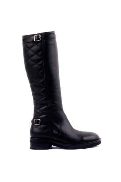 Kadın Siyah Fermuarlı Çizme