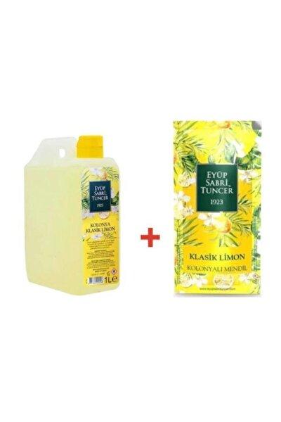 Kolonya Pvc 1lt Limon ve  Kolonyalı Mendil 150'li