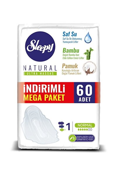Natural Ultra Hassas Normal Mega Paket 60 Adet
