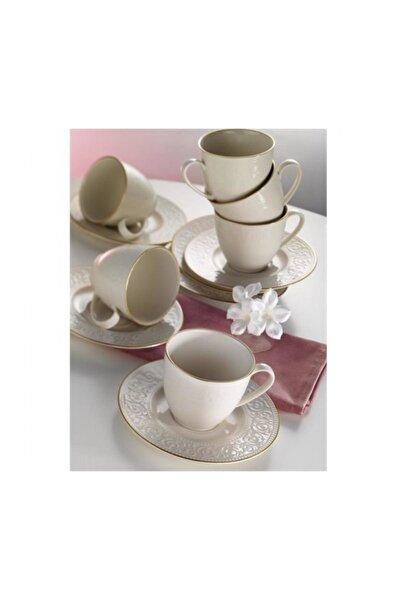Açelya Krem 6 Kişilik Kahve Fincan Takımı ACL12KT14R520